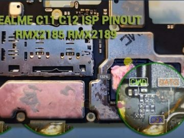 Realme C11 C12 RMX2185 ISP Pinout To ByPass FRP And Pattern Lock Remove