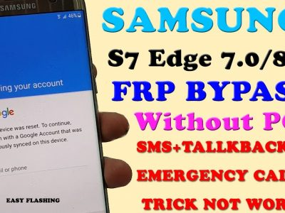 SAMSUNG S7 Edge FRP BYPASS (Android 7.0 / 8.0) sin PC    Truco 2020